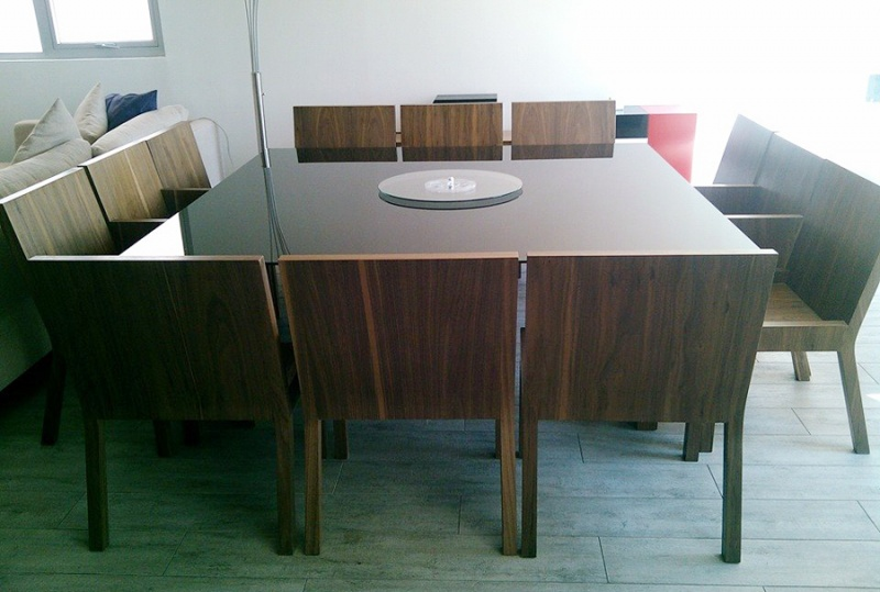 Comedores y mesas de trabajo muebles contemporaneos for Comedores de piel