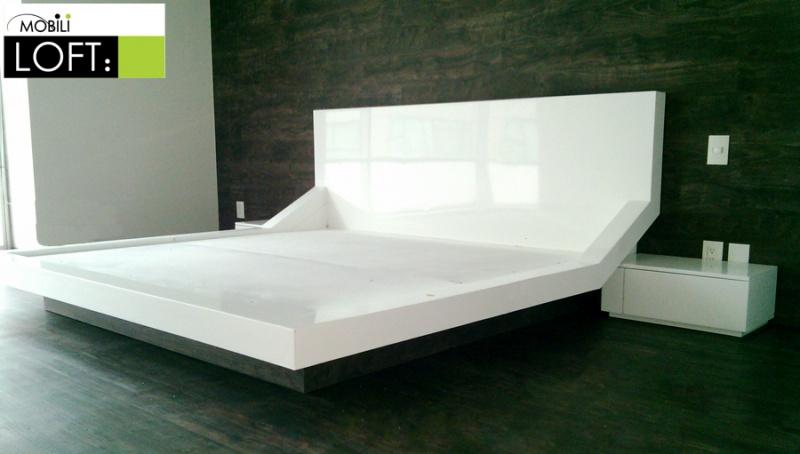 Recamaras muebles contemporaneos minimalistas for Buros de cama modernos