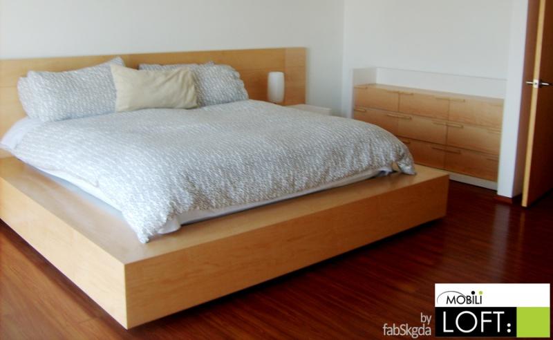 Camas laqueadas minimalista for Base para cama queen size minimalista