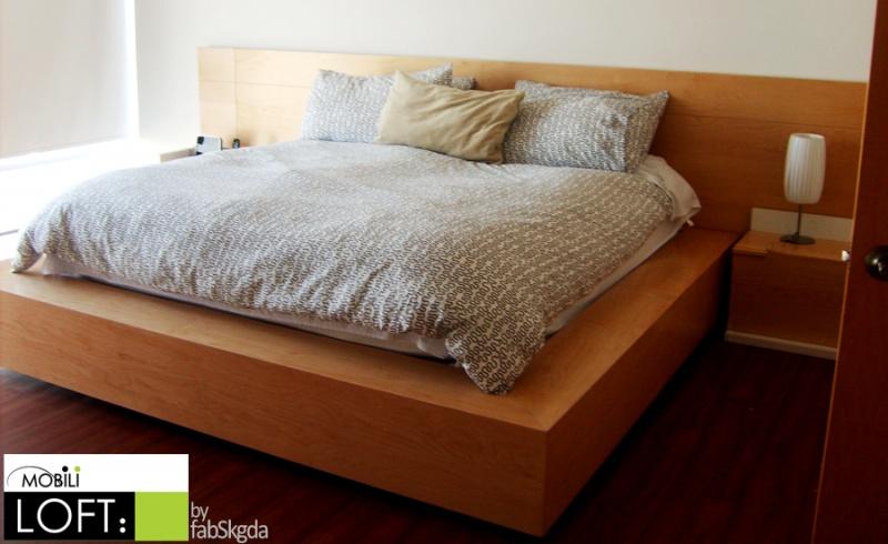 Recamaras modernas muebles contemporaneos minimalistas for Cama king size de madera