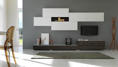 Soluciones para tv muebles contemporaneos minimalistas - Modulo para tv ...
