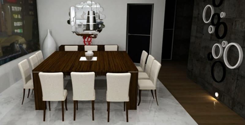 Comedor 8 sillas cuadrado