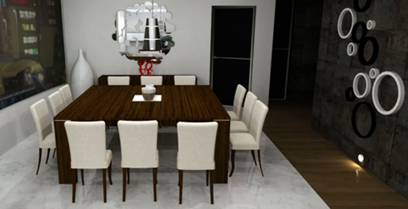 Mesa comedor 12 comensales cheap usado mesa de madera for Mesa 2 metros comensales