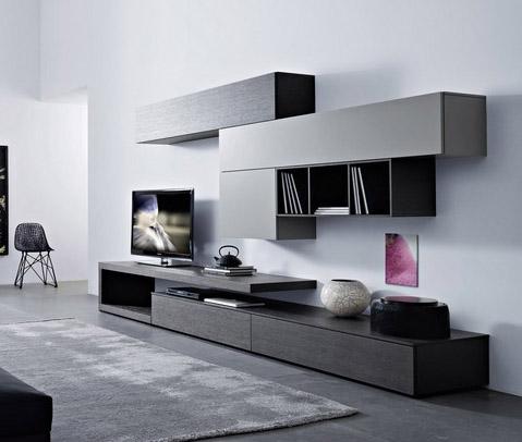 Soluciones para tv muebles contemporaneos minimalistas for Sala de estar minimalista