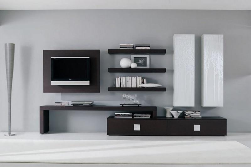 Centros de entretenimiento muebles contemporaneos Muebles flotantes para tv