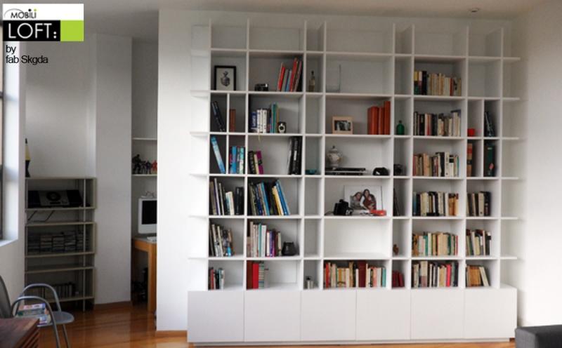 Libreros muebles contemporaneos minimalistas - Libreros de madera modernos ...