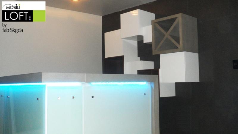 Cantinas y barras muebles contemporaneos minimalistas for Muebles para barra de bar