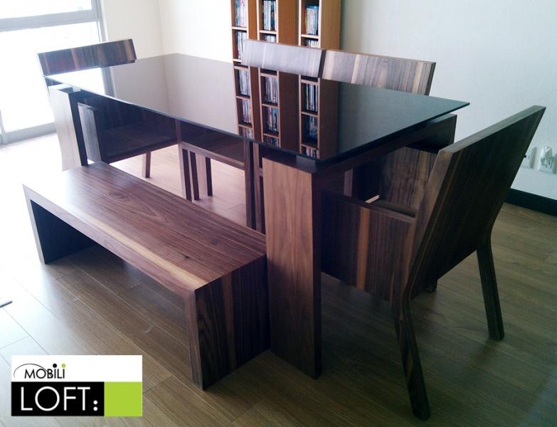 Comedores y mesas de trabajo muebles contemporaneos for Comedores minimalistas de cristal