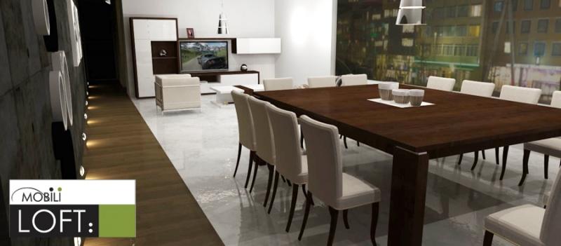 Comedores y mesas de trabajo muebles contemporaneos for Comedores 10 12 sillas