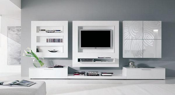 Soluciones para tv muebles contemporaneos minimalistas - Muebles para tv minimalistas ...